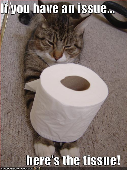 If You Have An Issue Here S The Tissue Cheezburger