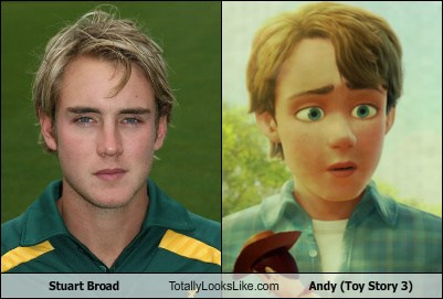 Stuart Broad Totally Looks Like Andy Toy Story 3 Totally Looks Like
