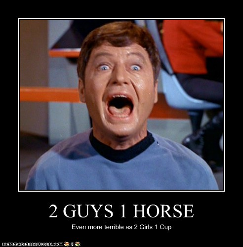 two guys one horse