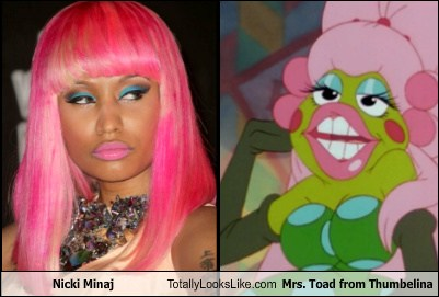Nicki Minaj Totally Looks Like Mrs Toad From Thumbelina