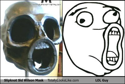Slipknot Sid Wilson Mask Totally Looks Like LOL Guy Meme - Totally