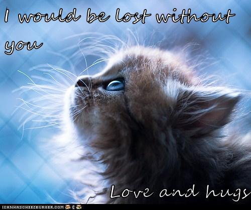 I Would Be Lost Without You Love And Hugs Lolcats Lol