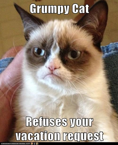 Grumpy Cat Refuses Your Vacation Request