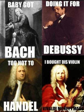 music puns memes classical funny jokes band composer classic humor meme bach musicians innocent musician composers punny musical handel amirite