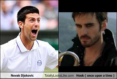 Novak Djokovic Totally Looks Like Hook Once Upon A Time Totally Looks Like