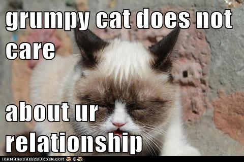 Grumpy Cat Does Not Care About Ur Relationship Lolcats