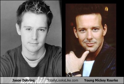Jason Dohring Totally Looks Like Young Mickey Rourke ...