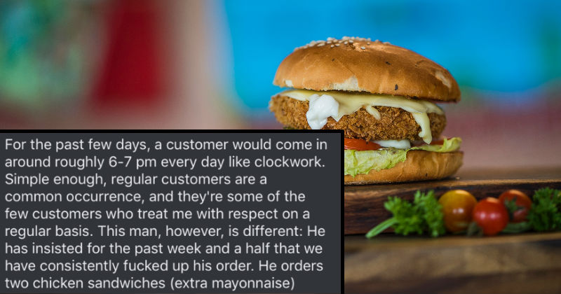 Dumbfounded Fast Food Employee's Work Story About Mayo-Obsessed Customer Is Dripping In Cringe