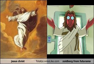 jesus christ totally looks like zoidberg from futurama totally