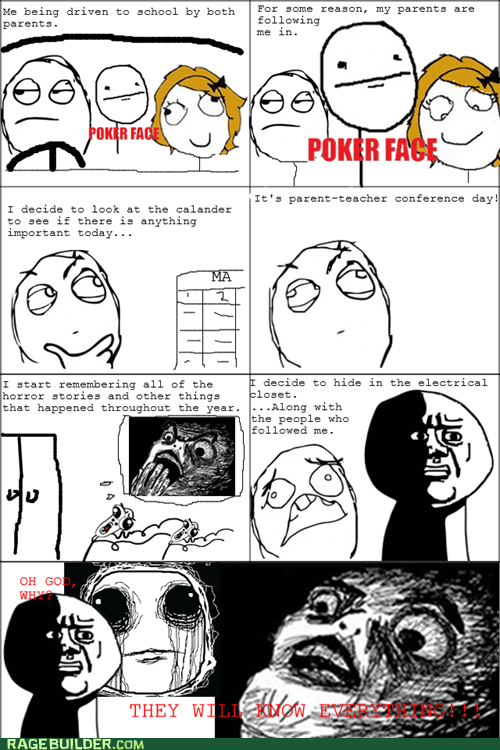 Rage Comics - parent teacher conference - Rage Comics - rage comics