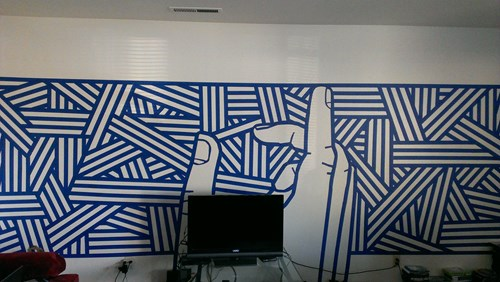 Here's What a Little Tape and Some Creativity Can do For Your Room