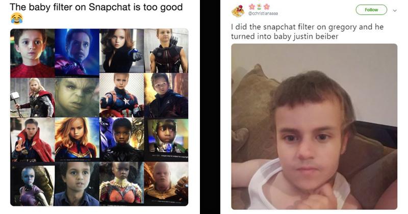Snapchat's New 'Baby Filter' Has People Goin' Gaga - Memebase