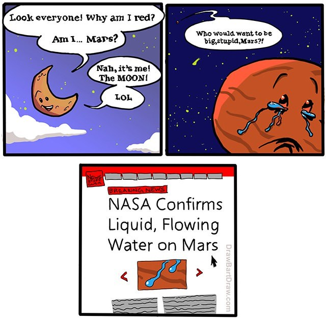 Comics So That's Where The Water on Mars Came From