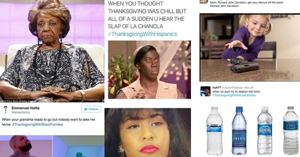 hashtags of the day twitter imagines thanksgiving for black,Thanksgiving With Hispanic Families Memes