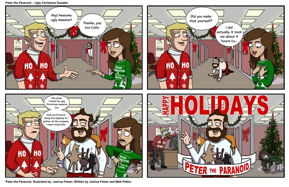 Ugly Christmas Sweater Cartoon.Just How Ugly Is Your Ugly Christmas Sweater Web Comics