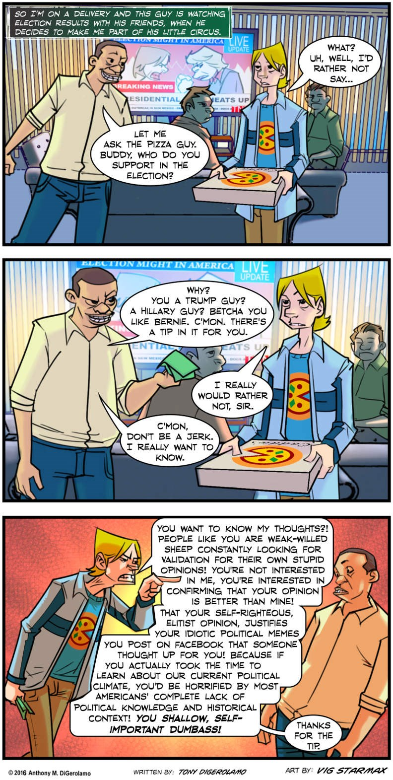 Comics Tales of Pizza: Don't Ask the Pizza Guy