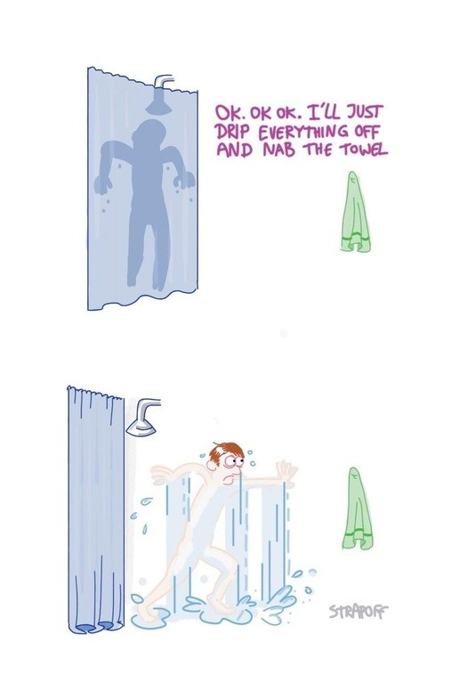Comics The Curse of the Far-Away-Towel Is Too Real, Man