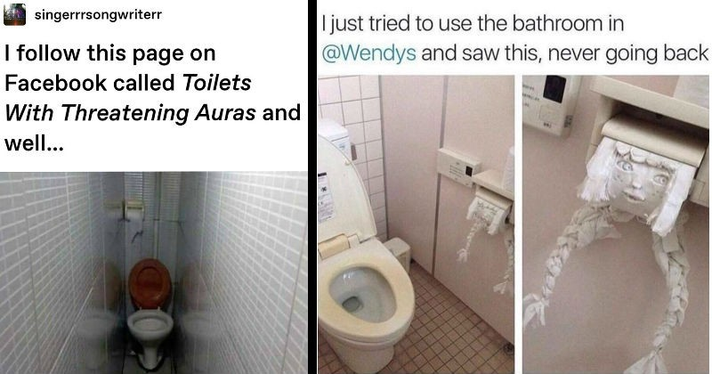 Weird Cursed Toilets With Menacing Auras 4