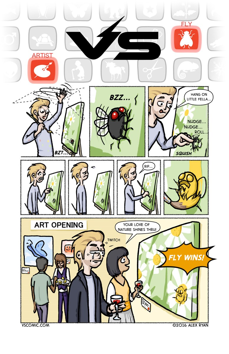Comics The Tortured Artist vs. The Fly