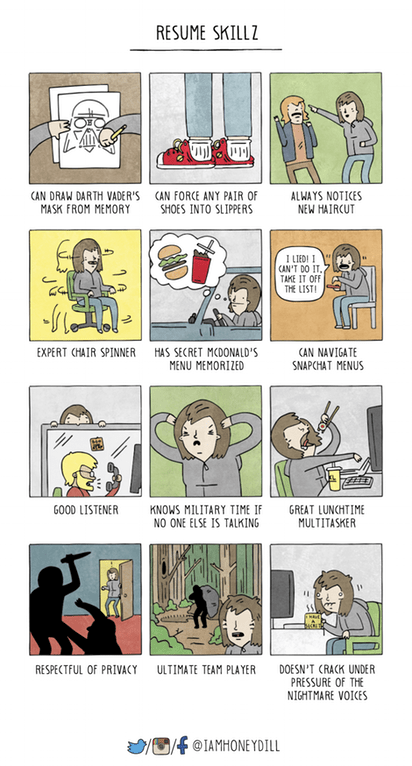 Comics Forget Resume, These Are Skills for Life