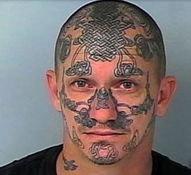 53 wtf face tattoos that are a sign your life might have for Face tattoos gone wrong