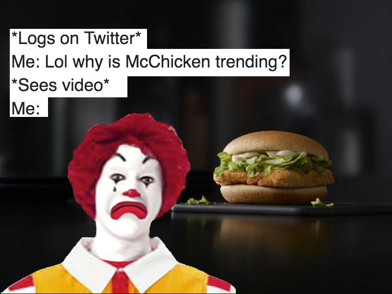 the nsfw reason mcchicken was trending shook twitter and probably