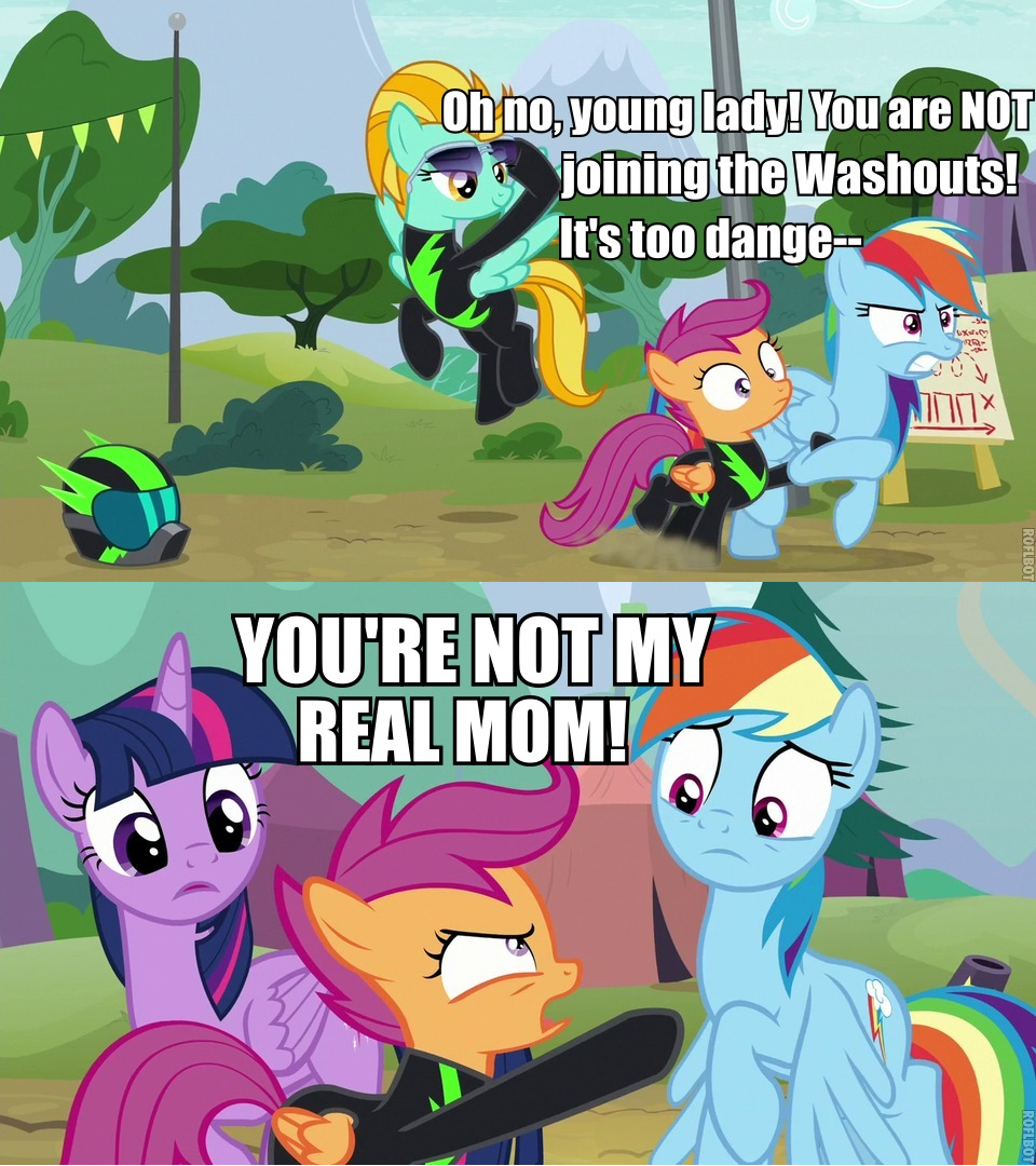 Rebellious Phase My Little Brony My Little Pony Friendship Is Magic Brony Pokemon Go This picutre from scootaloo and rainbow dash is so cute. rebellious phase my little brony my