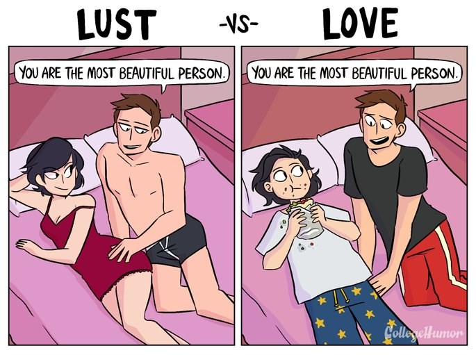 Comics This Lust vs Love Web Comic Shows What Real Love Can Do