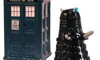 Dalek and Tardis Salt and Pepper