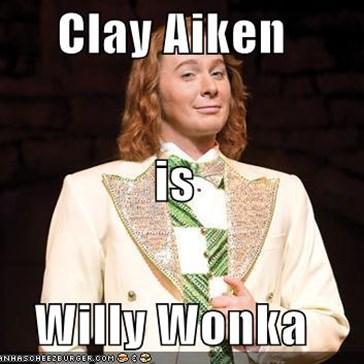 Clay Aiken is Willy Wonka