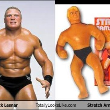 Brock Lesnar Totally Looks Like Stretch Armstrong