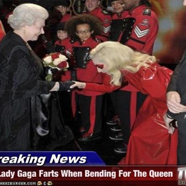 Breaking News - Lady Gaga Farts When Bending For The Queen