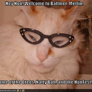 Hey Hon! Welcome to Ballmer, Merlin.  Home of the Oreos, Natty Boh, and the HonFest!