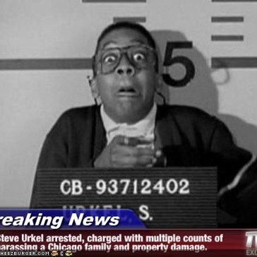Breaking News - Steve Urkel arrested, charged with multiple counts of harassing a Chicago family and property damage.