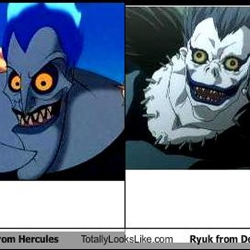 Hades from Hercules Totally Looks Like Ryuk from Death Note