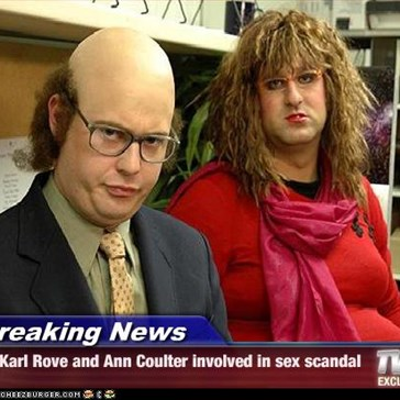 Breaking News - Karl Rove and Ann Coulter involved in sex scandal