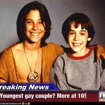 Breaking News - Youngest gay couple? More at 10!