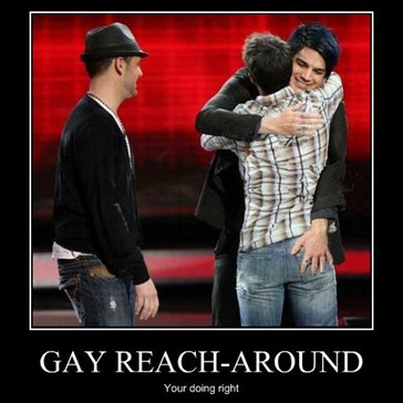 GAY REACH-AROUND
