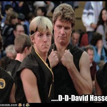I didn't know David Hasselhoff appeared in Karate Kid