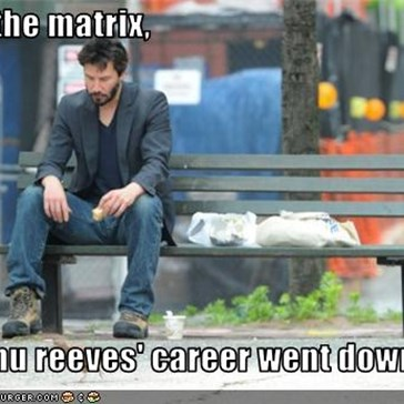 After the matrix,   keanu reeves' career went downhill