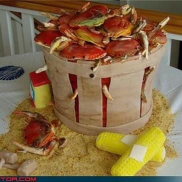 Sheer Awesomeness: Bushel of Crabs Wedding Cake