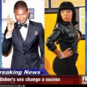Breaking News - Usher's sex change a sucess