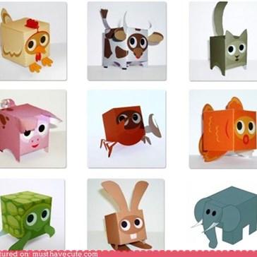 Free DIY Paper Box Animals