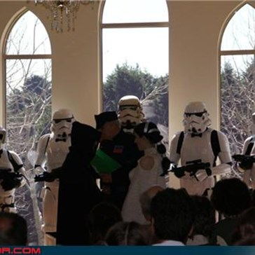This is the First Time I've Seen the Stormtroopers Inside the Actual Church