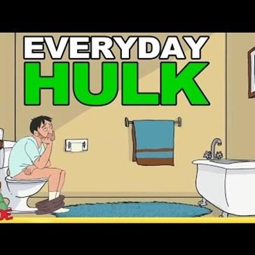 Hulk in the Bathroom