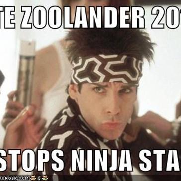 VOTE ZOOLANDER 2012  HE STOPS NINJA STARS