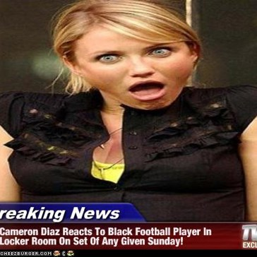 Breaking News - Cameron Diaz Reacts To Black Football Player In Locker Room On Set Of Any Given Sunday!