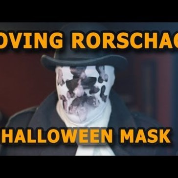 DIY Cheap, Moving Rorschach Mask of the Day