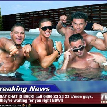 Breaking News - GAY CHAT IS BACK! call 0800 23 23 23 c'mon guys, they're waiting for you right NOW!!