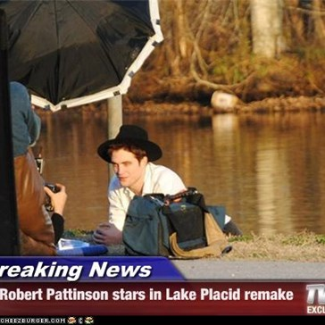 Breaking News - Robert Pattinson stars in Lake Placid remake